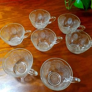 Vintage Punch Cups, set of 7
